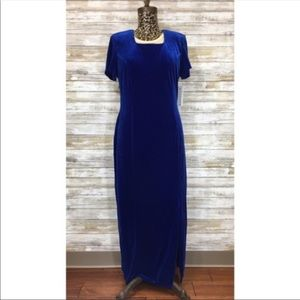NWT Electric Blue Stretch Velvet Worthington Dress